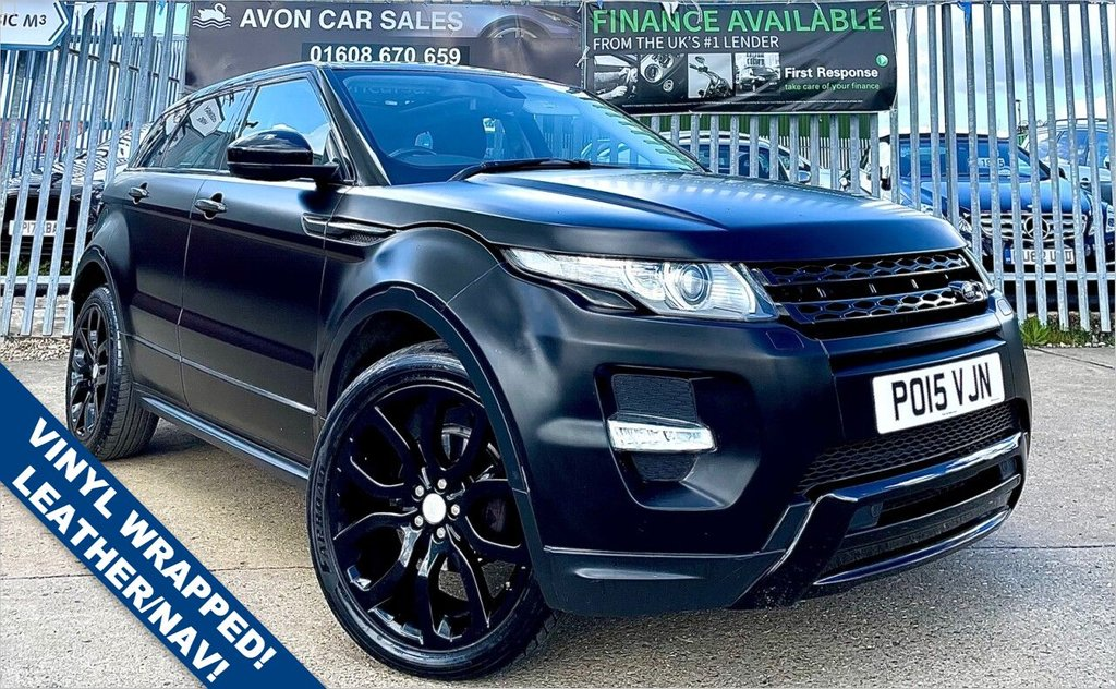 USED 2015 15 LAND ROVER RANGE ROVER EVOQUE 2.2 SD4 DYNAMIC 5d 190 BHP AUTOMATIC! PROFESSIONALLY WRAPPED! LEATHER! SAT NAV! REVERSING CAMERA! PANORAMIC GLASS ROOF!