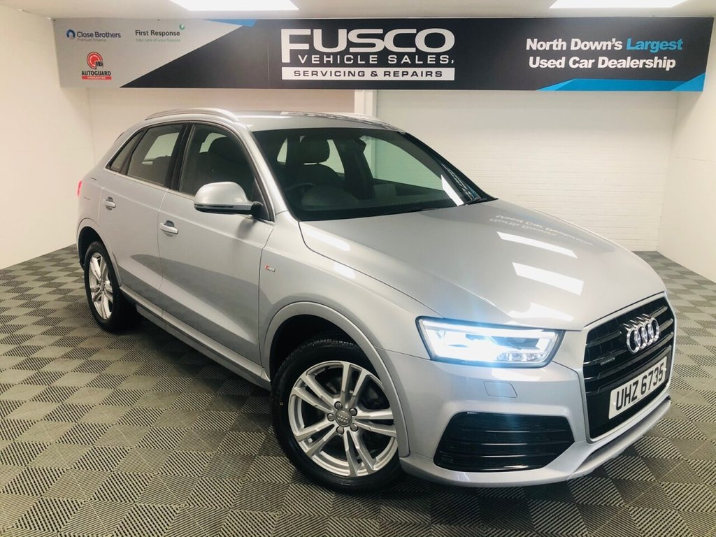 USED 2016 AUDI Q3 2.0 TDI QUATTRO S LINE NAVIGATION 5d 148 BHP NATIONWIDE DELIVERY AVAILABLE!