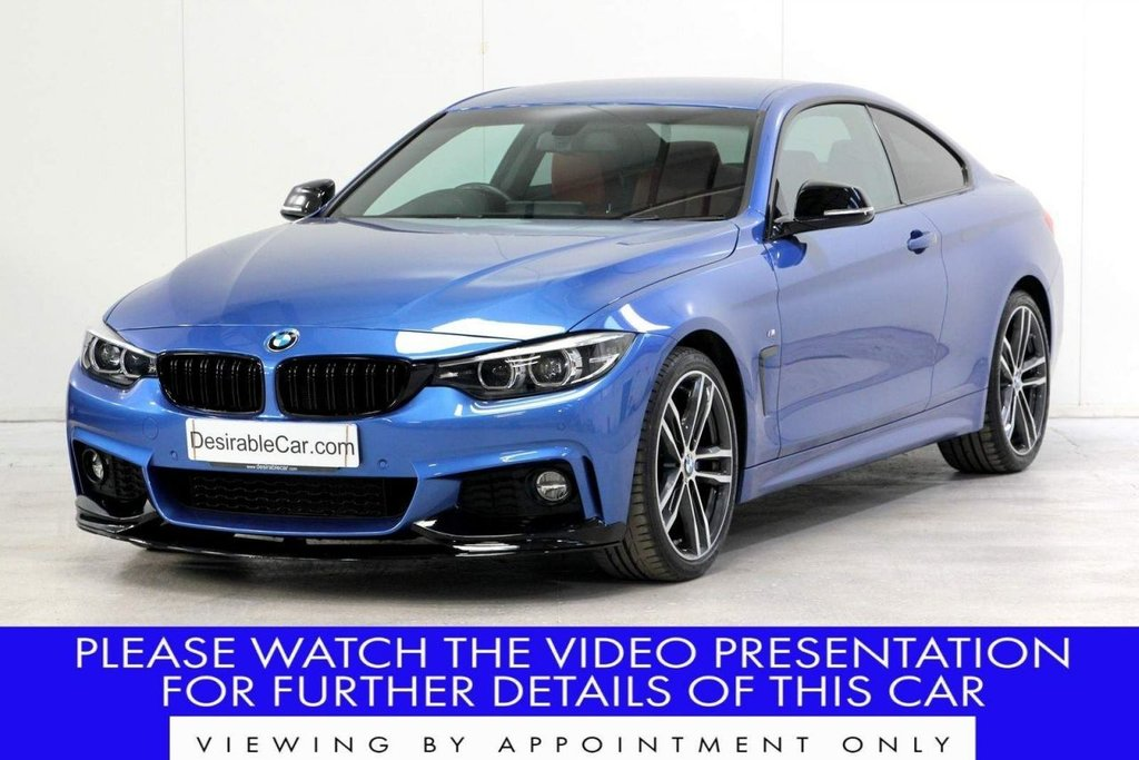 USED 2017 17 BMW 4 SERIES 2.0 420i M Sport Auto (s/s) 2dr VAT Q*RED LEATHER*HK SOUND