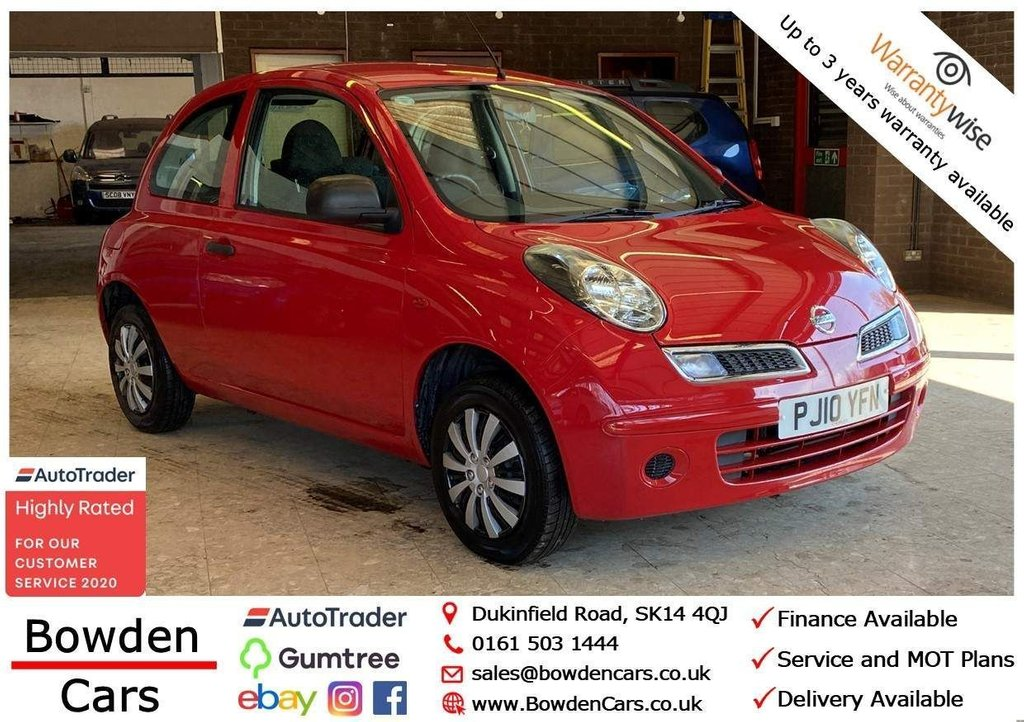 USED 2010 10 NISSAN MICRA 1.2 16v Visia 3dr **FREE NATIONWIDE DELIVERY**