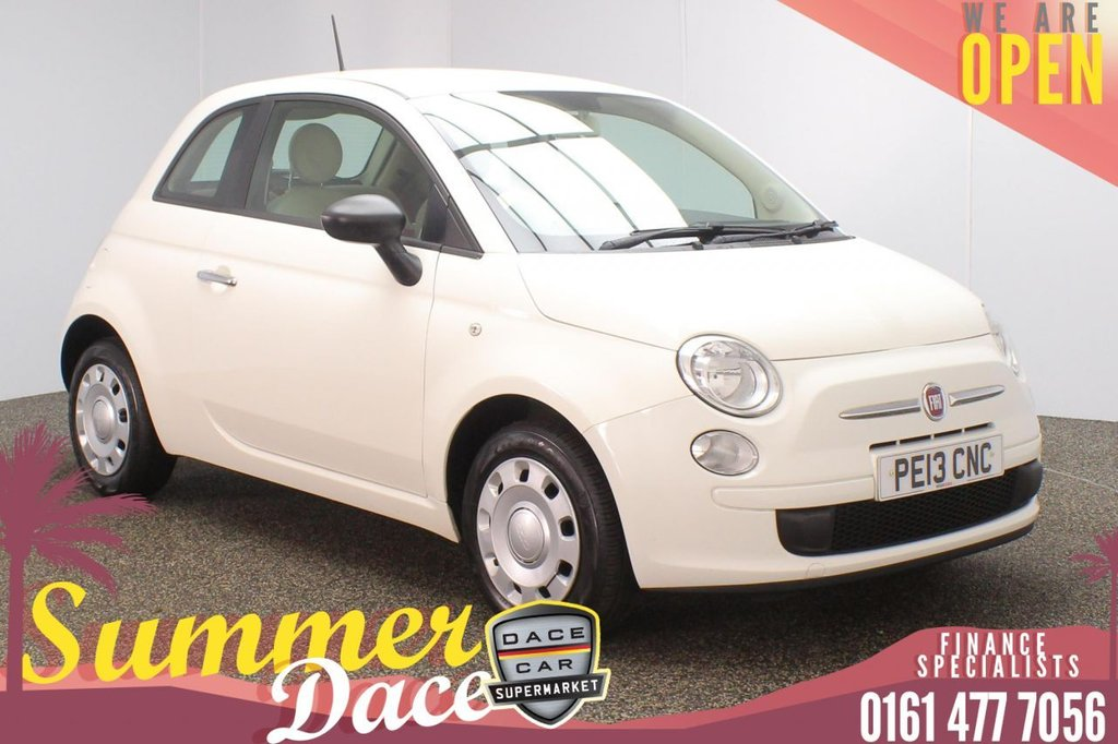 USED 2013 13 FIAT 500 1.2 POP 3DR 69 BHP FULL SERVICE HISTORY + £30 12 MONTHS ROAD TAX + RADIO/CD + ELECTRIC WINDOWS + ELECTRIC DOOR MIRRORS