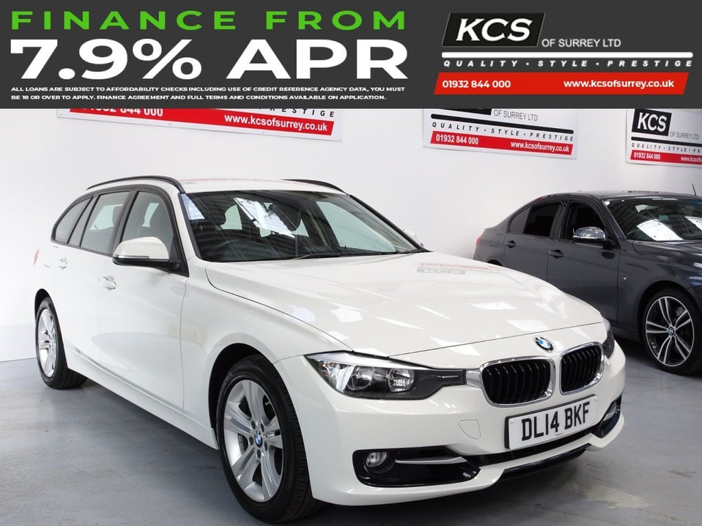 USED 2014 14 BMW 3 SERIES 2.0 320I XDRIVE SPORT TOURING 5d 181 BHP 4WD-LEATHER-BLUETOOTH-DAB