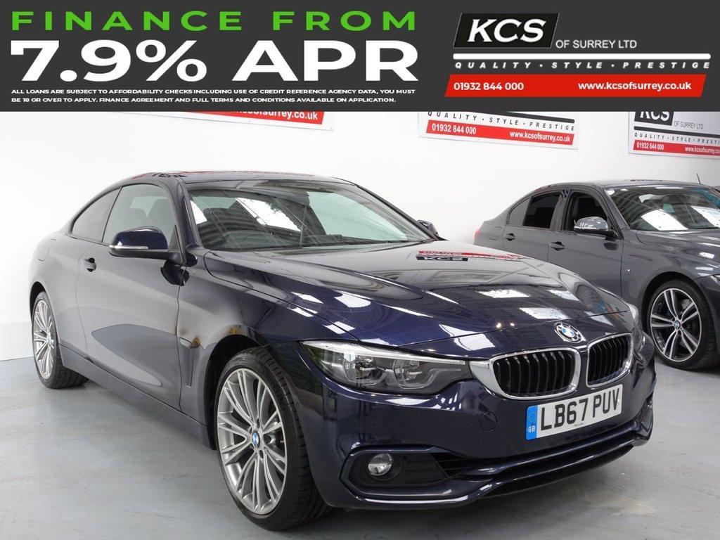 USED 2018 67 BMW 4 SERIES 2.0 420I XDRIVE SPORT 2d 181 BHP PRO NAV - SUNROOF - LED LIGHTS