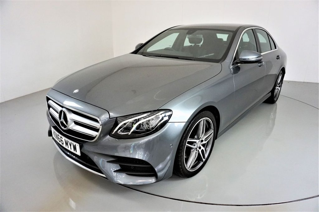 USED 2016 66 MERCEDES-BENZ E-CLASS 2.0 E 220 D AMG LINE 4d AUTO-2 OWNER CAR-HEATED HALF LEATHER-19