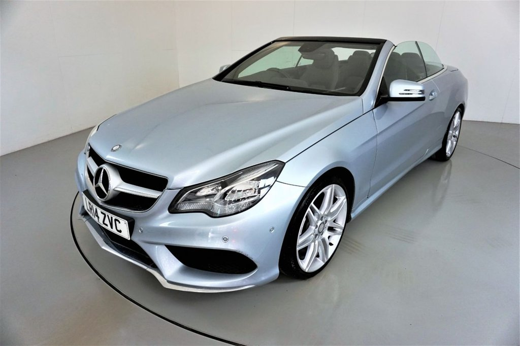 USED 2014 14 MERCEDES-BENZ E-CLASS 2.1 E220 CDI AMG SPORT 2d AUTO 170 BHP-2 FORMER KEEPERS-UPGRADE 19