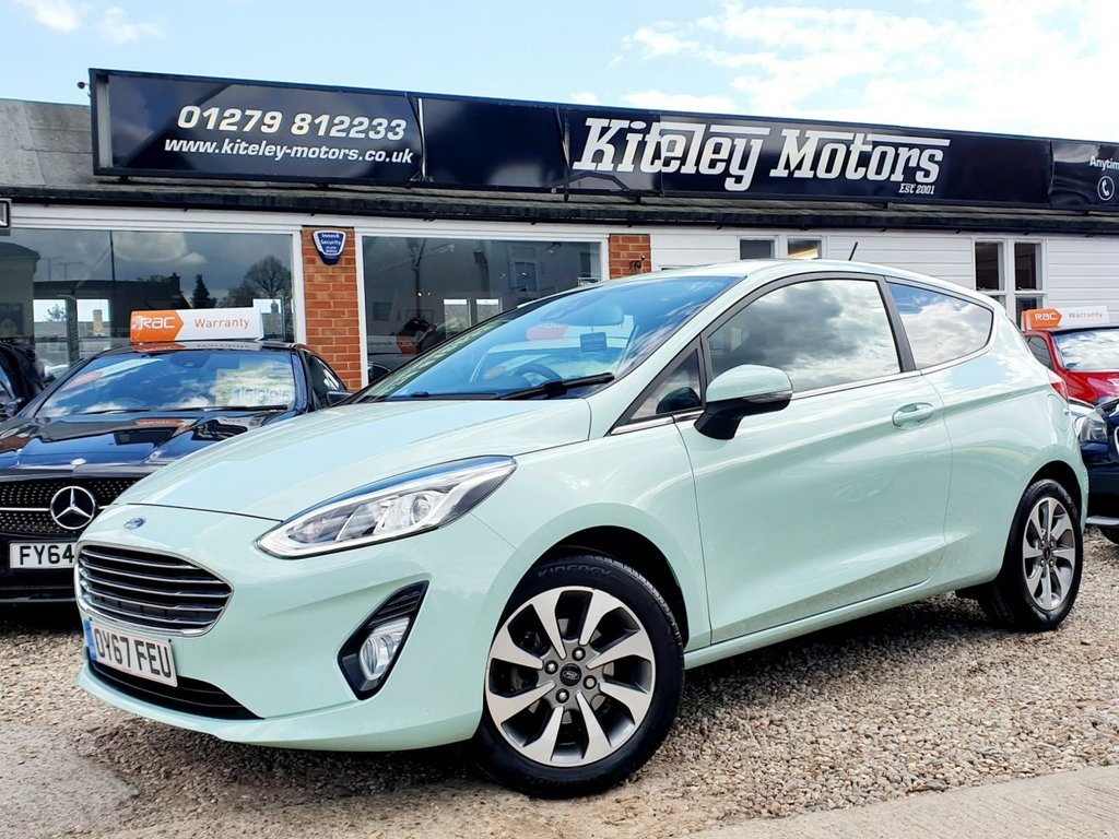 USED 2017 67 FORD FIESTA 1.0 B AND O PLAY ZETEC 3d 99 BHP SATELLITE NAVIGATION