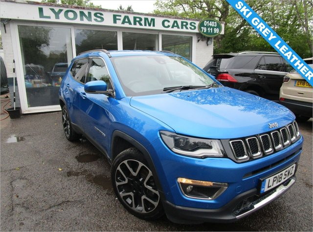 USED 2018 18 JEEP COMPASS 1.6 MULTIJET II LIMITED 5d 120 BHP Excellent Service History + Just Serviced, One Owner, NEW MOT, Great fuel economy!