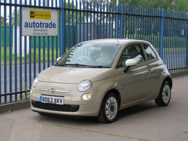USED 2013 63 FIAT 500 1.2 COLOUR THERAPY 3d 69 BHP £30 Road Tax, Air conditioning & CD player