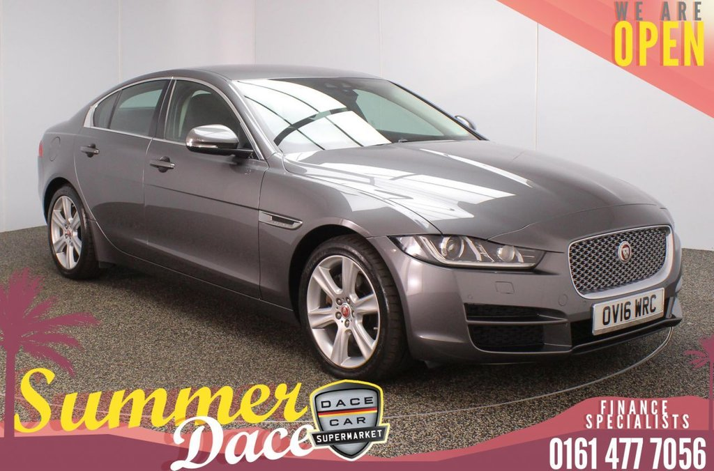 USED 2016 16 JAGUAR XE 2.0 PORTFOLIO 4DR 178 BHP SERVICE HISTORY + £30 12 MONTHS ROAD TAX + HEATED LEATHER SEATS + SATELLITE NAVIGATION + REVERSING CAMERA + PARKING SENSOR + LANE ASSIST SYSTEM + HEATED STEERING WHEEL + BLUETOOTH + CRUISE CONTROL + CLIMATE CONTROL + MULTI FUNCTION WHEEL + XENON HEADLIGHTS + DAB RADIO + AUX/USB PORTS + ELECTRIC WINDOWS + ELECTRIC/HEATED/FOLDING DOOR MIRRORS + 18 INCH ALLOY WHEELS
