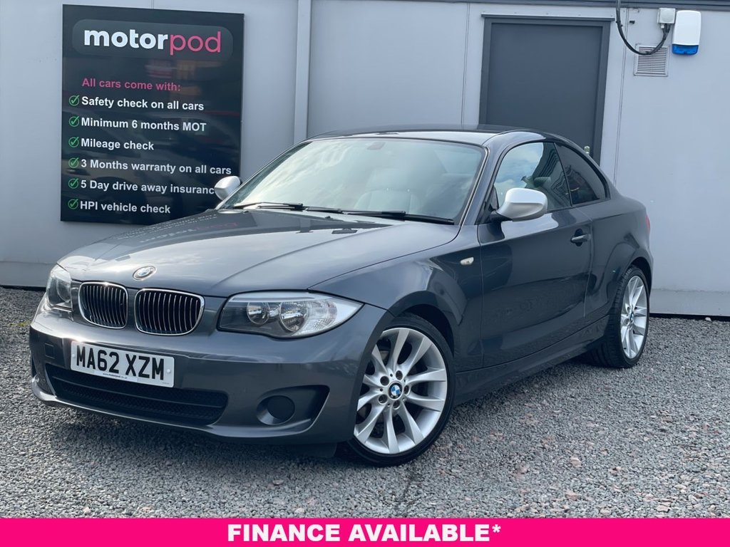 USED 2012 62 BMW 1 SERIES 2.0 118D EXCLUSIVE EDITION 2d 141 BHP COMPREHENSIVE HISTORY + BLUETOOTH CALLS + IVORY LEATHER + HEATED FRONT SEATS