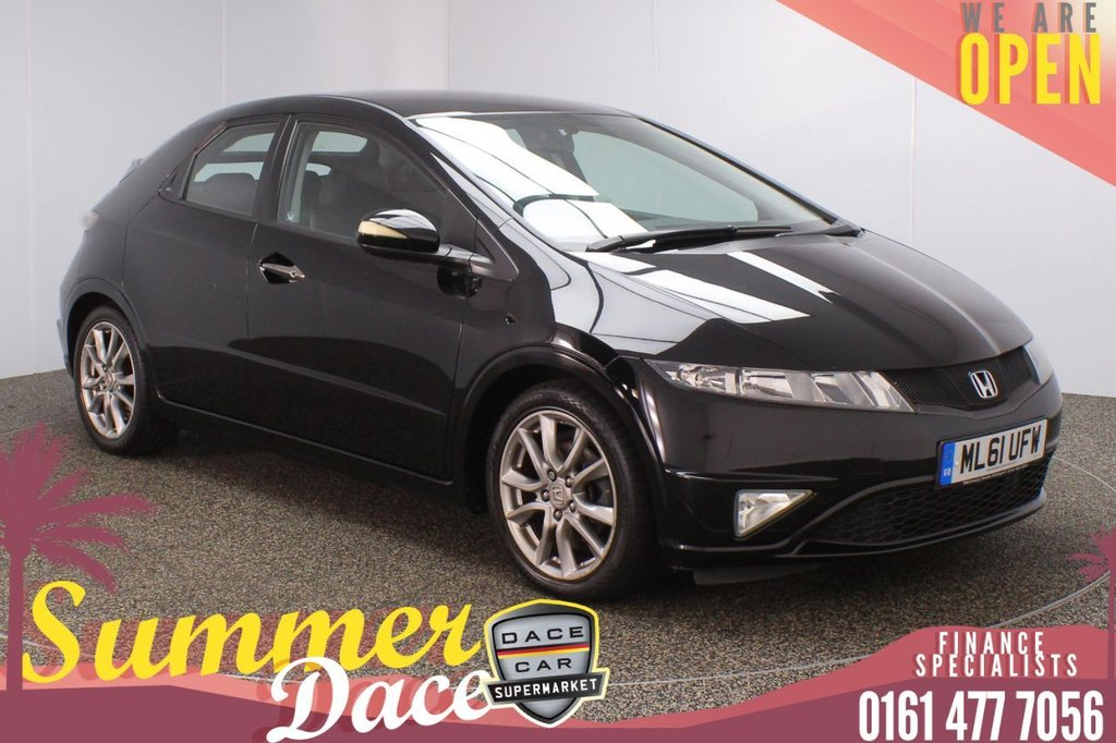 USED 2011 61 HONDA CIVIC 1.8 I-VTEC SI 5DR 138 BHP FULL SERVICE HISTORY + HALF LEATHER SEATS + CLIMATE CONTROL + MULTI FUNCTION WHEEL + RADIO/CD + ELECTRIC WINDOWS + ELECTRIC DOOR MIRRORS + ALLOY WHEELS