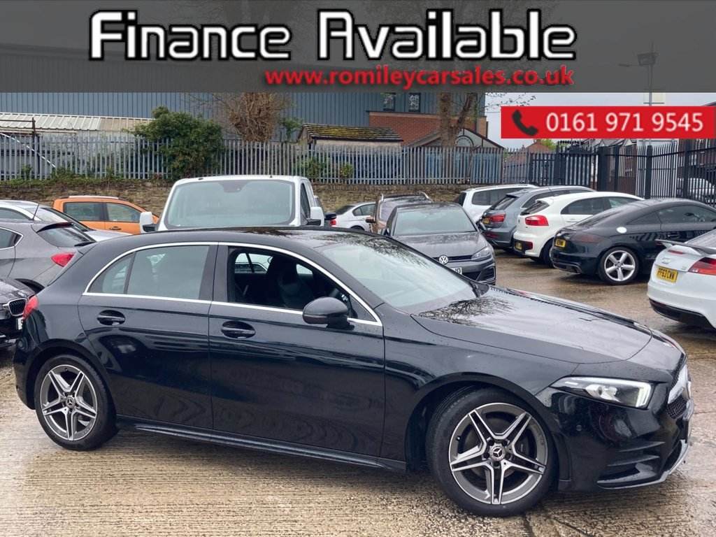 """USED 2018 68 MERCEDES-BENZ A-CLASS 1.5 A 180 D AMG LINE EXECUTIVE 5d 114 BHP FULL SERVICE RECORD - XENON HEADLIGHTS - 18"""" ALLOYS - LARGE SCREEN NAVIGATION - BLUETOOTH"""