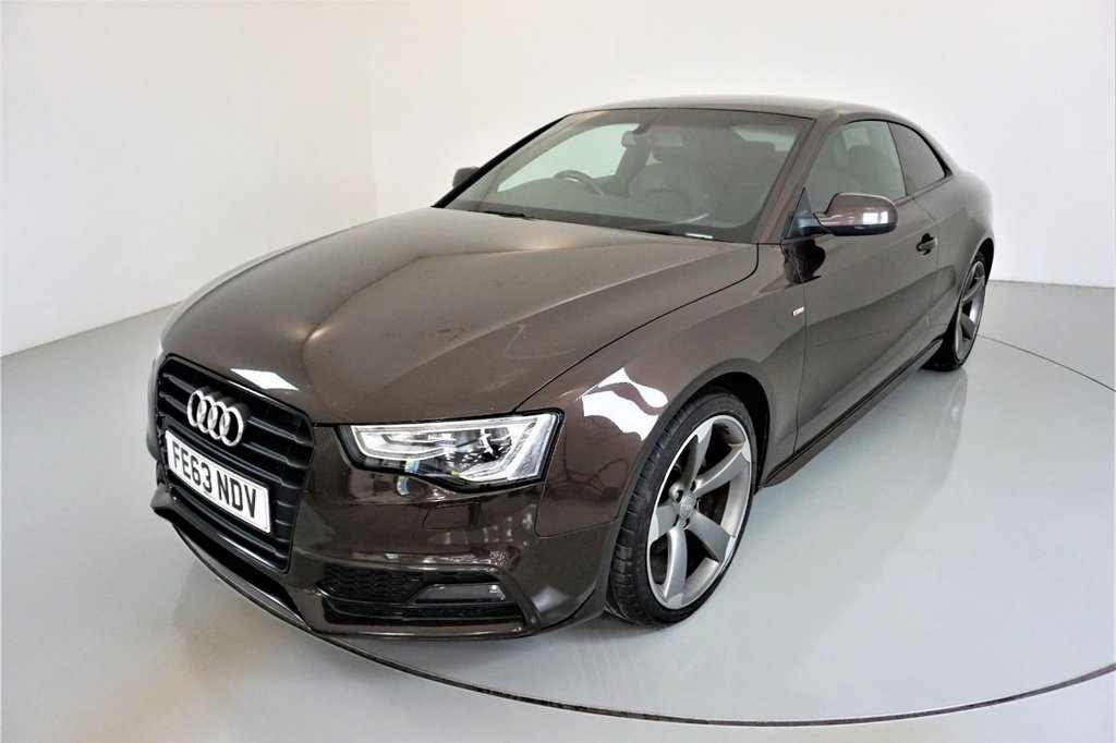 USED 2013 63 AUDI A5 2.0 TDI BLACK EDITION 2d AUTO-HEATED BLACK LEATHER-BANG AND OLUFSEN SOUND-CLIMATE CONTROL