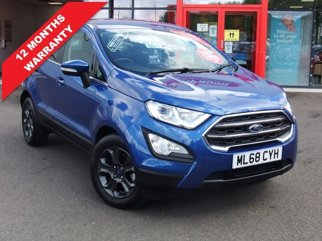 USED 2018 68 FORD ECOSPORT 1.0 ZETEC 5d 124 BHP Ultra Low Miles