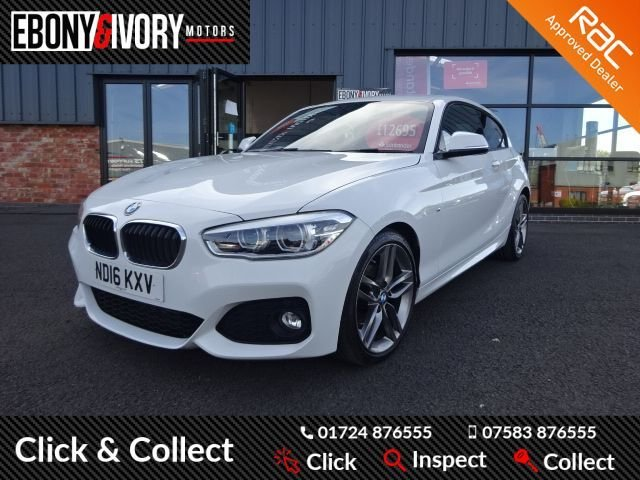 USED 2016 16 BMW 1 SERIES 2.0 118D M SPORT 3d 147 BHP EXCELLENT EXAMPLE+FULLY SERVICED+1 YEAR MOT+BREAKDOWN COVER