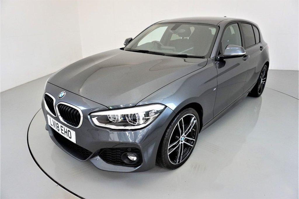 USED 2018 18 BMW 1 SERIES 1.5 116D M SPORT 5d AUTO-1 OWNER CAR-HEATED SEATS-ALCANTARA UPHOLSTERY-BLUETOOTH-SPEED LIMITER-SATNAV-18