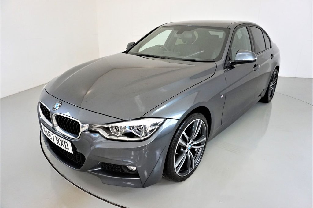 USED 2017 67 BMW 3 SERIES 2.0 320D M SPORT 4d AUTO-1 OWNER CAR-HEATED BLACK DAKOTA LEATHER-HARMAN KARDON-19