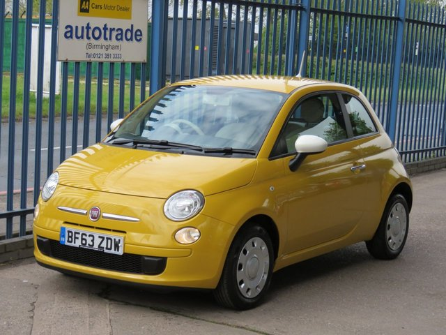 USED 2013 63 FIAT 500 1.2 COLOUR THERAPY 3dr 69 Air conditioning-Electric windows-CD player Finance arranged Part exchange available Open 7 days