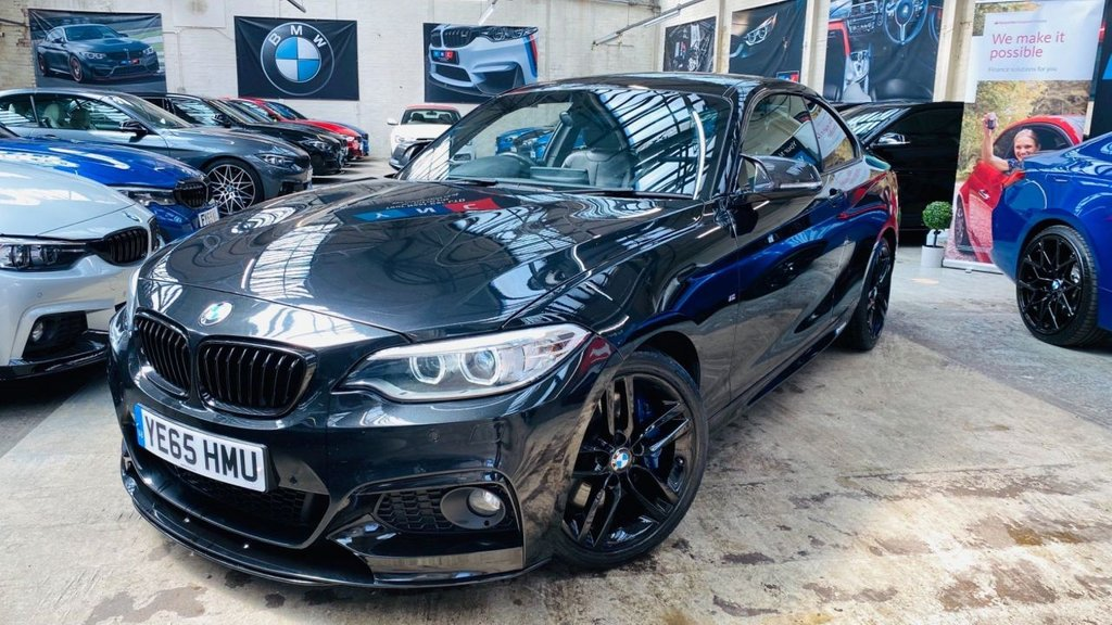 USED 2015 65 BMW 2 SERIES 2.0 225d M Sport Auto (s/s) 2dr PERFORMANCEKIT+PLUSPACK+LTHR