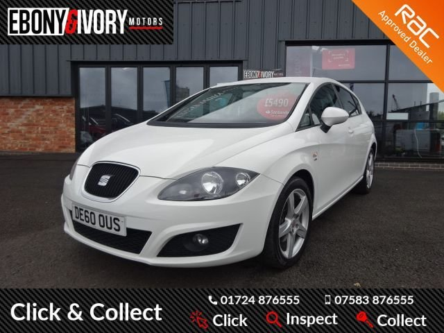 USED 2010 60 SEAT LEON 2.0 SPORT TDI 5d 138 BHP + FULL SERVICE HISTORY + 1 YEAR MOT AND BREAKDOWN COVER