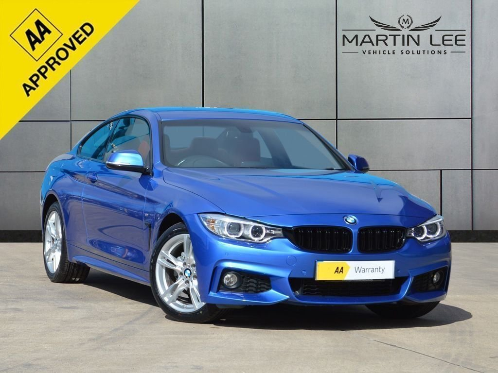 USED 2015 15 BMW 4 SERIES 2.0 420D M SPORT 2d 188 BHP UNIQUE CORAL RED LEATHER