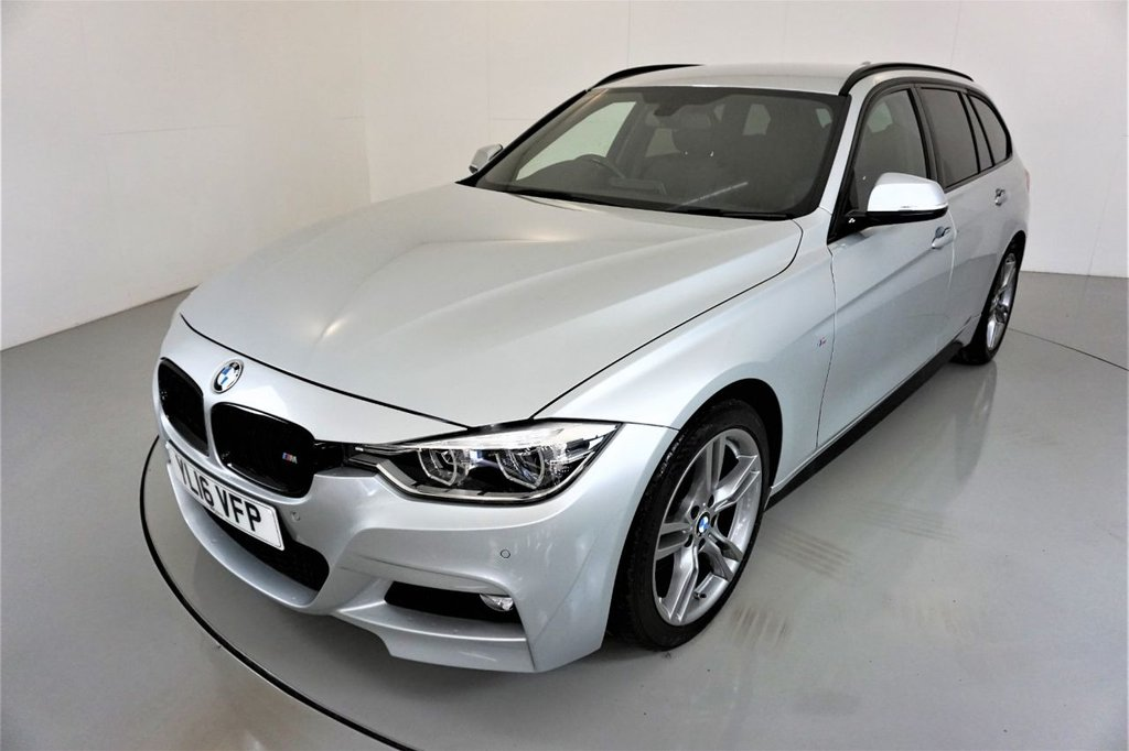 USED 2016 16 BMW 3 SERIES 3.0 330D M SPORT TOURING 5d AUTO-2 OWNER CAR-HEATED BLACK DAKOTA LEATHER-BLUETOOTH-CRUISE CONTROL-SATNAV-PARKING SENSORS-CLIMATE CONTROL-REVERSE CAMERA