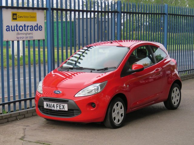 USED 2014 14 FORD KA 1.2 EDGE 3d 69 BHP ULEZ COMPLIANT, LOW TAX AND INSURANCE, AIR CON, FORD HISTORY