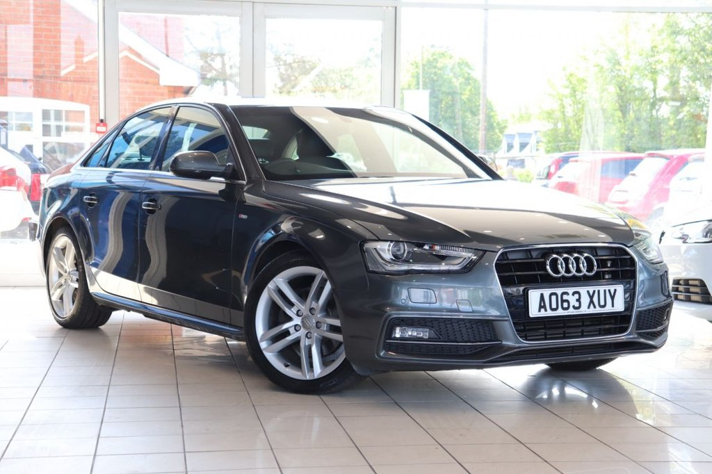 USED 2014 63 AUDI A4 2.0 TDI S LINE START/STOP 4d 148 BHP Cruise + Parking Aid + Dab