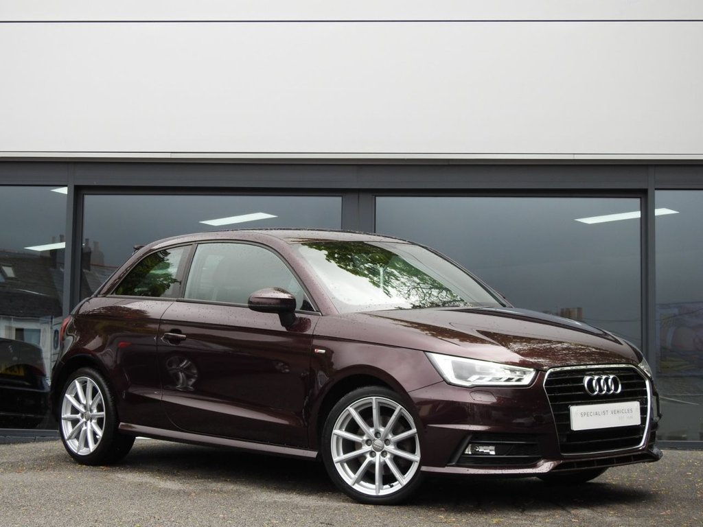 USED 2015 65 AUDI A1 1.4 TFSI S LINE 3d 123 BHP This Beautiful Example comes in Individual Shiraz Metallic Red with a Lovely Service History...