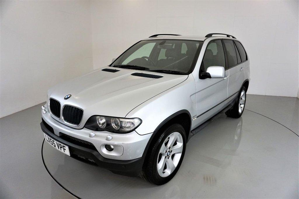 USED 2005 55 BMW X5 3.0 D SPORT 5d AUTO-LOW MILEAGE-BLACK DAKOTA LEATHER-ELECTRIC MEMORY SEAT-PARKING SENSORS-CLIMATE CONTROL