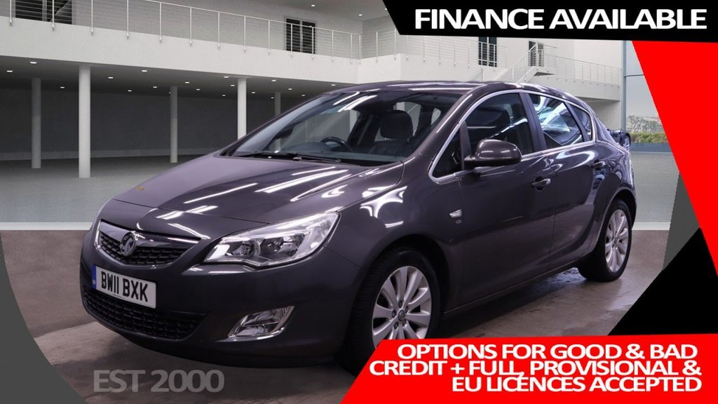 USED 2011 11 VAUXHALL ASTRA 1.6 ELITE 5d 113 BHP * 17 INCH ALLOYS * CLIMATE *  MOT OCT 21 * 49K MILES ONLY * LEATHER *
