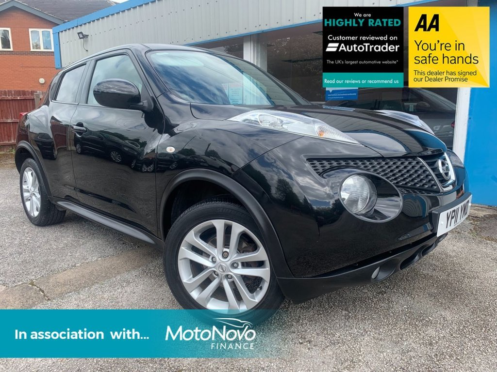 USED 2011 11 NISSAN JUKE 1.6 ACENTA SPORT 5d 117 BHP BLUETOOTH, PRIVACY GLASS, CRUISE CONTROL