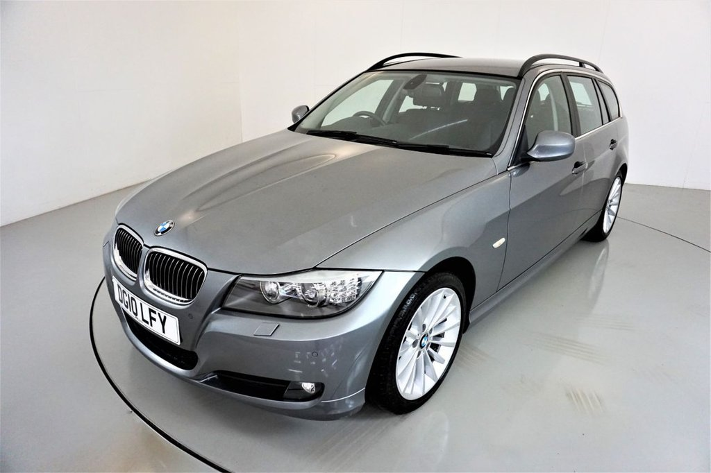 USED 2010 10 BMW 3 SERIES 3.0 325D SE TOURING 5d-2 OWNER CAR-HEATED BLACK DAKOTA LEATHER-CRUISE CONTROL-SATNAV-PARKING SENSORS-CLIMATE CONTROL-RARE MANUAL WITH ULTRA LOW MILEAGE-DONT MISS IT