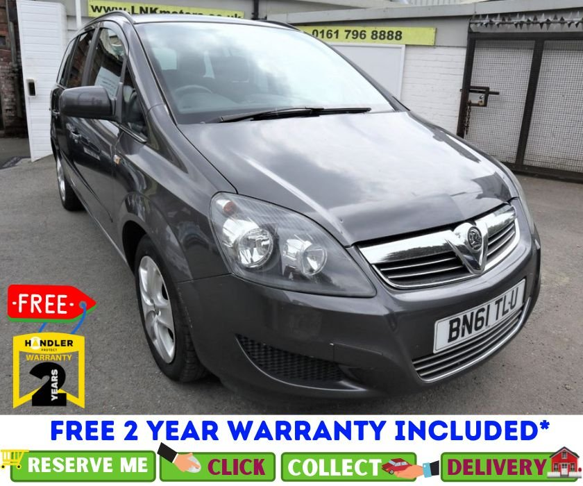 USED 2011 61 VAUXHALL ZAFIRA 1.6 EXCLUSIV 5d 113 BHP *CLICK & COLLECT OR DELIVERY *
