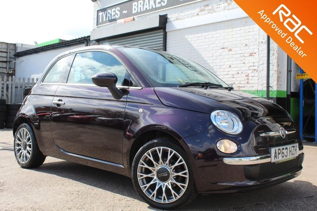 USED 2014 63 FIAT 500 1.2 LOUNGE 3d 69 BHP VIEW AND RESERVE ONLINE OR CALL 01527-853940 FOR MORE INFO.