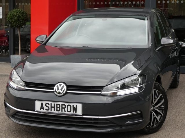 USED 2017 67 VOLKSWAGEN GOLF 1.6 TDI SE NAVIGATION BLUEMOTION TECH 5d 115 S/S 1 OWNER FROM NEW, SERVICE HISTORY, SAT NAV, APP-CONNECT FOR APPLE CAR PLAY ANDROID AUTO & MIRROR LINK, DAB RADIO, WLAN, BLUETOOTH W/ AUDIO STREAMING, PARK PILOT FRONT & REAR PARKING SENSORS W/ DISPLAY, ACC ADAPTIVE CRUISE CONTROL W/ FRONT ASSIST, ELEC HEATED POWER FOLDING DOOR MIRRORS, 5 SPEED MANUAL GEARBOX, 16 INCH 10 SPOKE ALLOYS, GREY CLOTH INTERIOR,LIGHT & RAIN SENSORS,FLAT BOTTOM LEATHER MULTIFUNCTION STEERING WHEEL,DRIVING MODE SELECTION,AUTO HOLD,AUX & USB INPUTS,TYRE MONITOR, VAT Q.