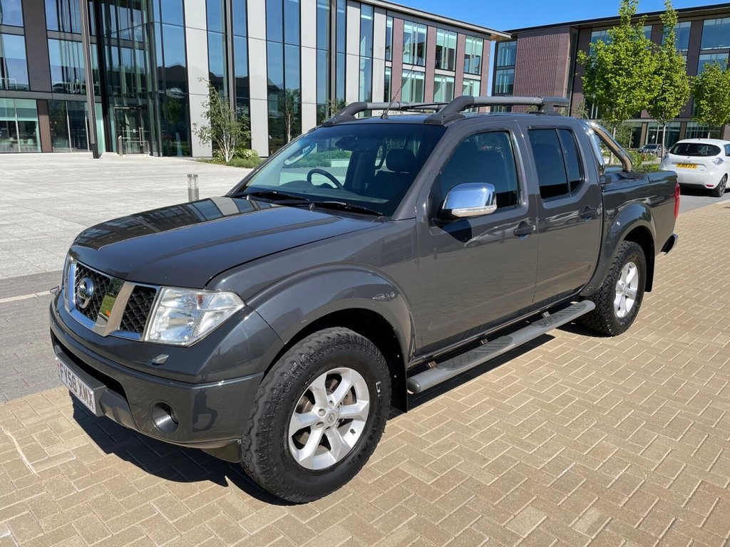 USED 2008 58 NISSAN NAVARA OUTLAW 2.5DCI 4X4 D/CAB PICK UP *AIRCON*LEATHER*HARD TOP*E/W* AIRCON-LEATHER-E/W-HARD TOP