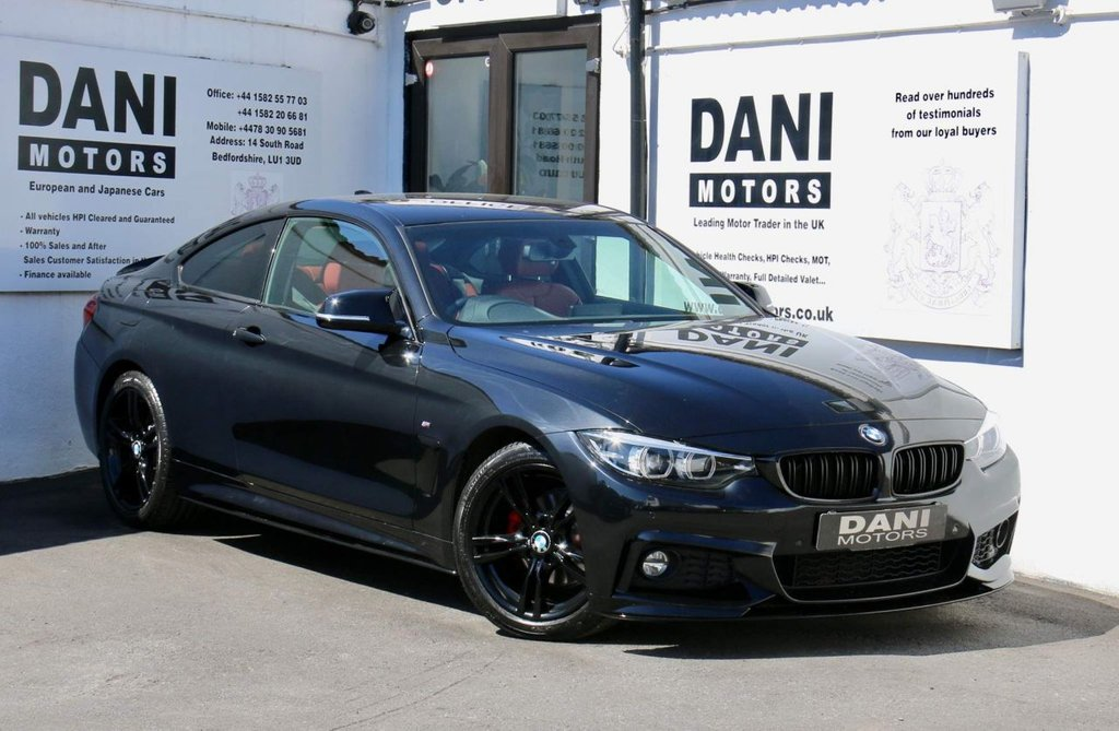 USED 2017 17 BMW 4 SERIES 2.0 420i M Sport Auto (s/s) 2dr 1 OWNER*SATNAV*PARKING AID
