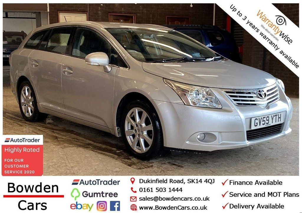USED 2010 59 TOYOTA AVENSIS 1.8 V-Matic TR 5dr **FREE NATIONWIDE DELIVERY**