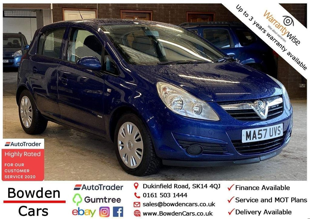 USED 2007 57 VAUXHALL CORSA 1.3 CDTi 16v Club 5dr **FREE NATIONWIDE DELIVERY**
