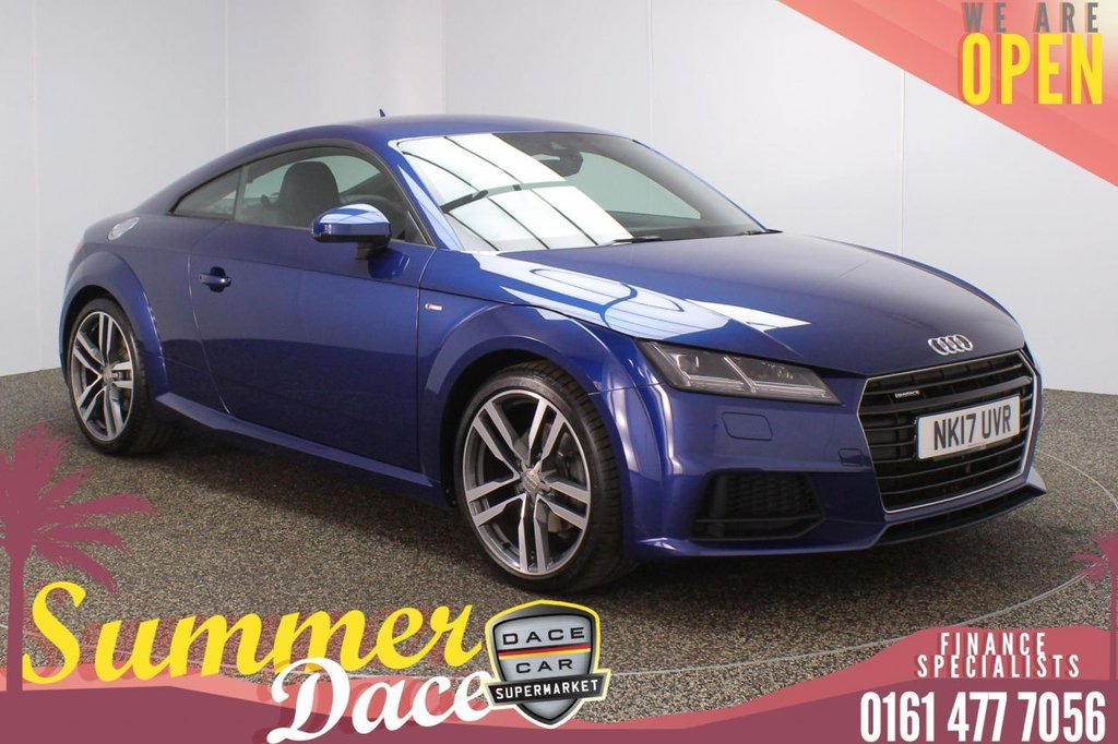 USED 2017 17 AUDI TT 2.0 TFSI QUATTRO S LINE 2DR AUTO 227 BHP FULL MAIN DEALER SERVICE HISTORY + HEATED HALF LEATHER SEATS + AUDI VIRTUAL COCKPIT + LANE ASSIST SYSTEM + BLUETOOTH + CRUISE CONTROL + MULTI FUNCTION WHEL + AIR CONDITIONING + LED HEADLIGHTS + DAB RADIO + ELECTRIC WINDOWS + ELECTRIC/HEATED DOOR MIRRORS + 19 INCH ALLOY WHEELS