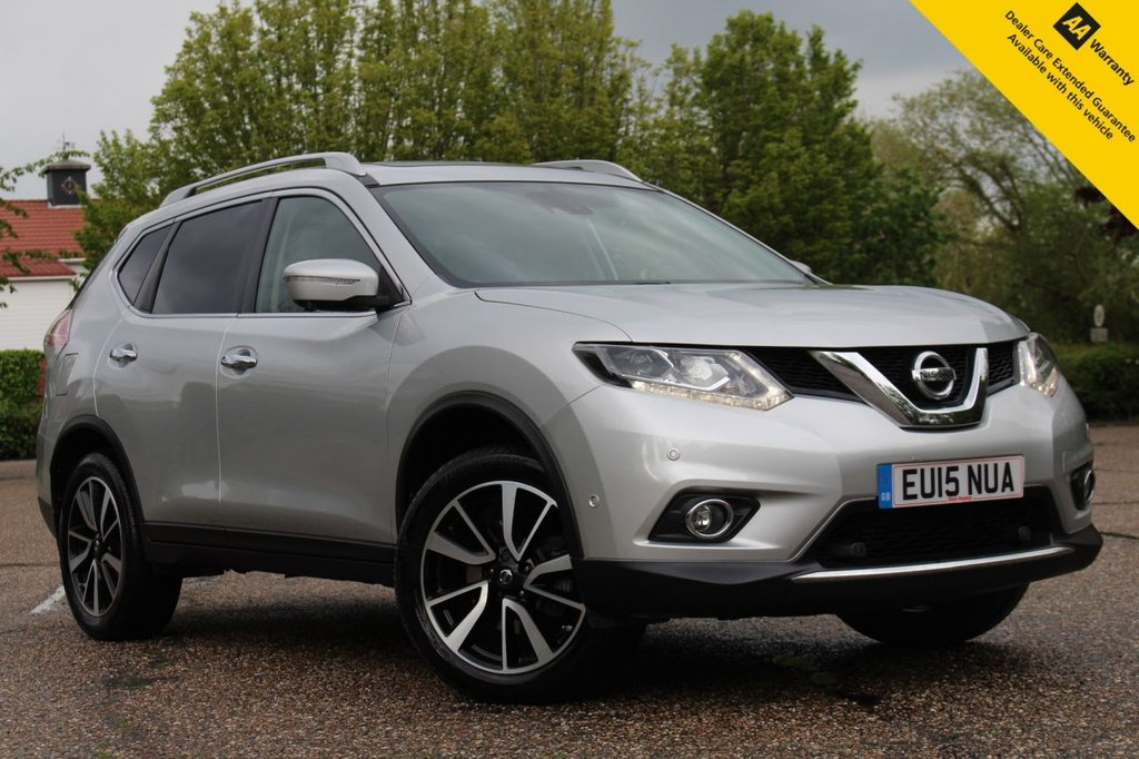 USED 2015 15 NISSAN X-TRAIL 1.6 DCI TEKNA 5d 130 BHP ** FULL SERVICE HISTORY ** BRAND NEW ADVISORY FREE MOT ** PANORAMIC SLIDE & TILT SUNROOF ** FULL LEATHER INTERIOR ** HEATED SEATS ** SATELLITE NAVIGATION ** FRONT AND REAR PARKING CAMERA 360 DEGREE VIEW ** PARK ASSIST (CAR PARKS ITSELF) ** POWER TAILGATE ** CRUISE CONTROL ** CLIMATE CONTROL ** BLUETOOTH ** AUTO LIGHTS + WIPERS ** CLICK AND COLLECT + NATIONWIDE DELIVERY AVAILABLE ** BUY ONLINE IN CONFIDENCE FROM A MULTI AWARD WINNING 5* RATED DEALER **
