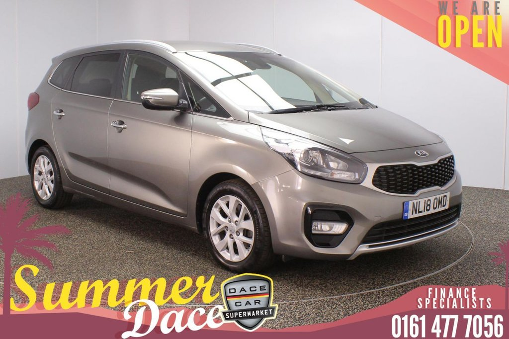 USED 2018 18 KIA CARENS 1.7 CRDI 2 ISG 5DR 1 OWNER AUTO 139 BHP FULL SERVICE HISTORY + 7 SEATS + REVERSING CAMERA + BLUETOOTH + CRUISE CONTROL + CLIMATE CONTROL + MULTI FUNCTION WHEEL + PRIVACY GLASS + DAB RADIO + AUX/USB PORTS + ELECTRIC WINDOWS + ELECTRIC/HEATED/FOLDING DOOR MIRRORS + 16 INCH ALLOY WHEELS