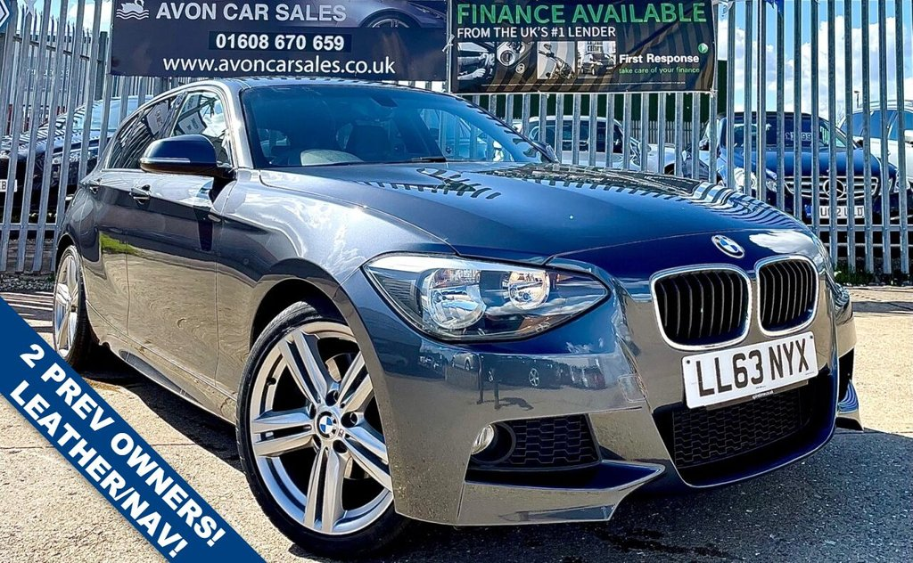 USED 2013 63 BMW 1 SERIES 2.0 125I M SPORT 5d 215 BHP AUTOMATIC! LEATHER! SAT NAV! 2 PREV OWNERS! 2 KEYS!