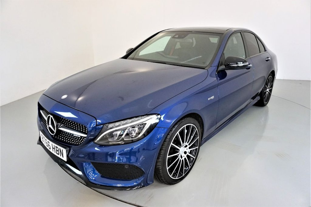 USED 2016 66 MERCEDES-BENZ C-CLASS 3.0 AMG C 43 4MATIC PREMIUM 4d AUTO-2 PREVIOUS KEEPERS-PANORAMIC SUNROOF-19