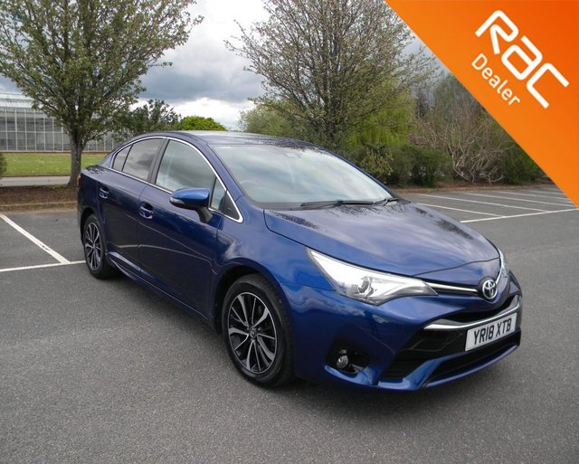 USED 2018 18 TOYOTA AVENSIS 1.8 VALVEMATIC BUSINESS EDITION PLUS 4d 145 BHP BY APPOINTMENT ONLY - Still Under Toyota Warranty! Reversing Camera, Cruise Control, Bluetooth, DAB, Alloy Wheels, Sat Nav