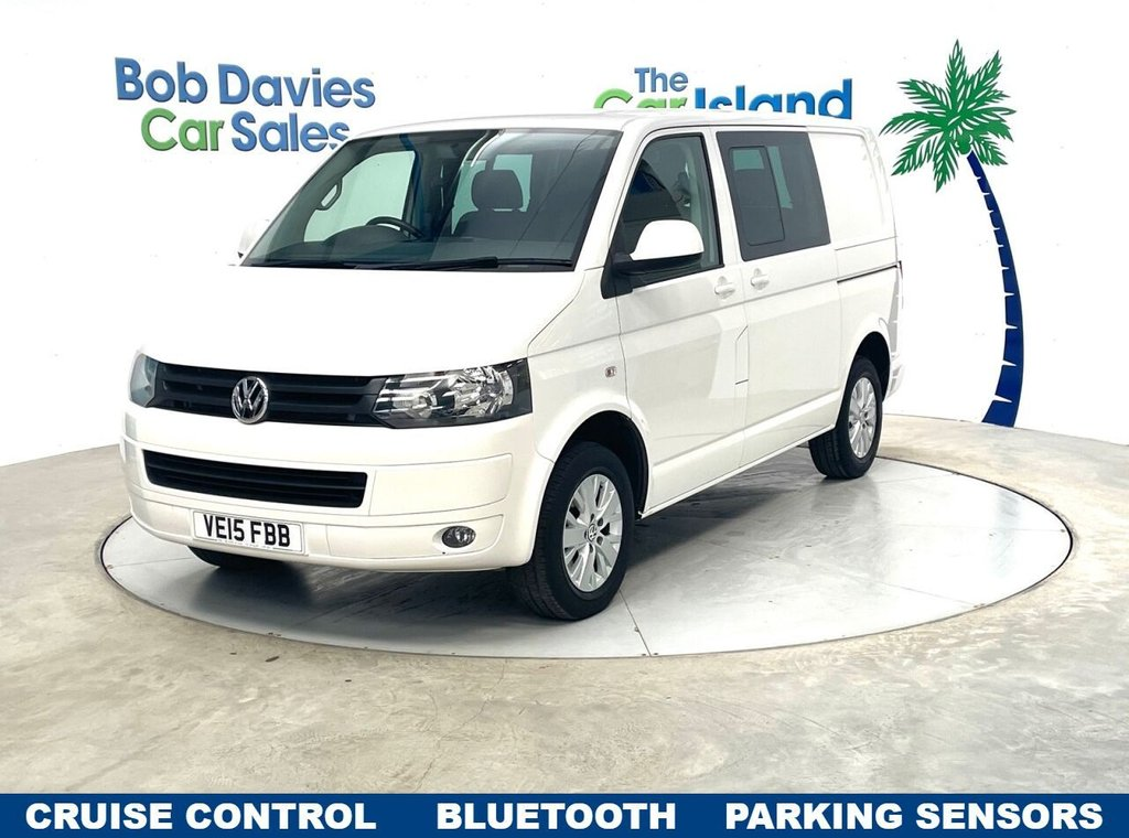 USED 2015 15 VOLKSWAGEN TRANSPORTER 2.0 T30 TDI KOMBI HIGHLINE 101 BHP Low Mileage 6 seat example with Windows Cruise & Bluetooth