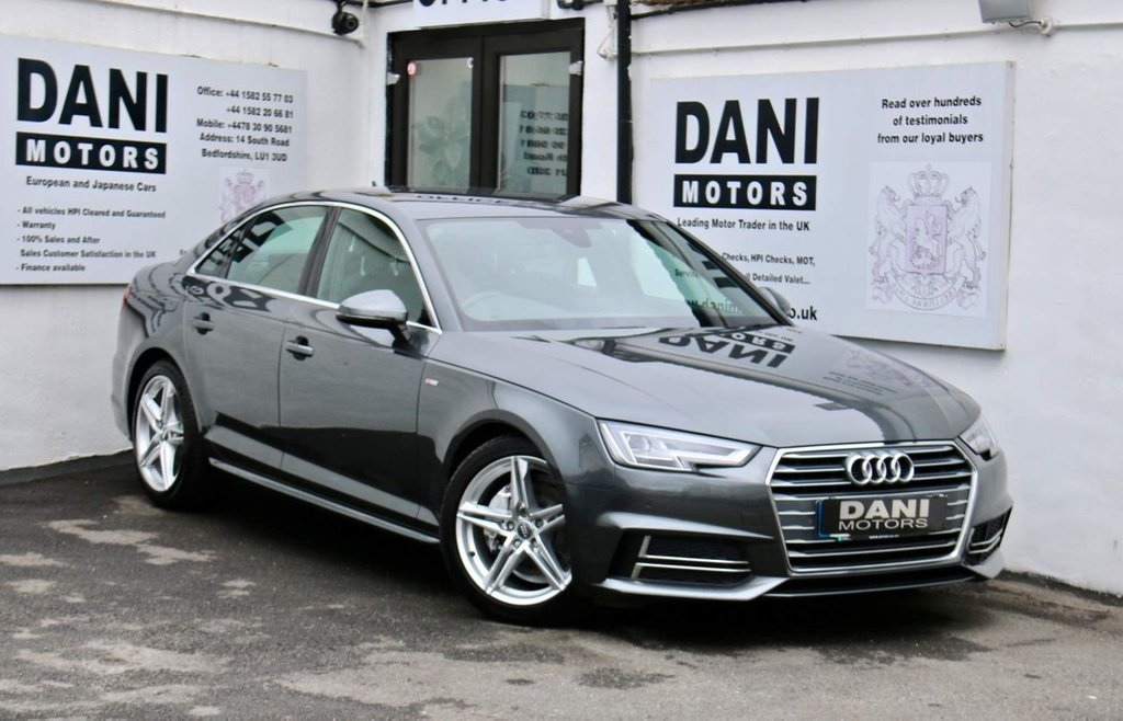 USED 2016 66 AUDI A4 2.0 TDI S line S Tronic (s/s) 4dr 1 OWNER*APPLE PLAY*PARKING AID