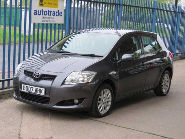 USED 2007 07 TOYOTA AURIS 1.6 TR VVT-I 5d 122 BHP Air conditioning-Front fogs-Alloys Part exchange available Open 7 days