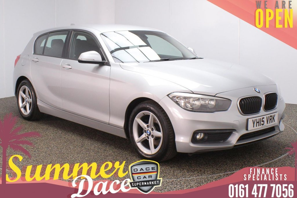 USED 2015 15 BMW 1 SERIES 1.5 116D ED PLUS 5DR 114 BHP SERVICE HISTORY + FREE 12 MONTHS ROAD TAX + SATELLITE NAVIGATION + PARKING SENSOR + BLUETOOTH + CRUISE CONTROL + AIR CONDITIONING + MULTI FUNCTION WHEEL + DAB RADIO + AUX/USB PORTS + ELECTRIC WINDOWS + ELECTRIC DOOR MIRRORS + 16 INCH ALLOY WHEELS
